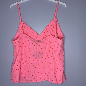 Topshop Tops - NWT TopShop Pink Polka Dot Button-Detail Cami Top